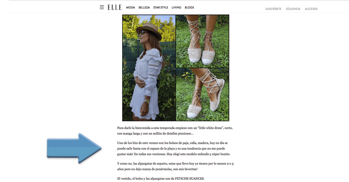 patrocinio display revista elle