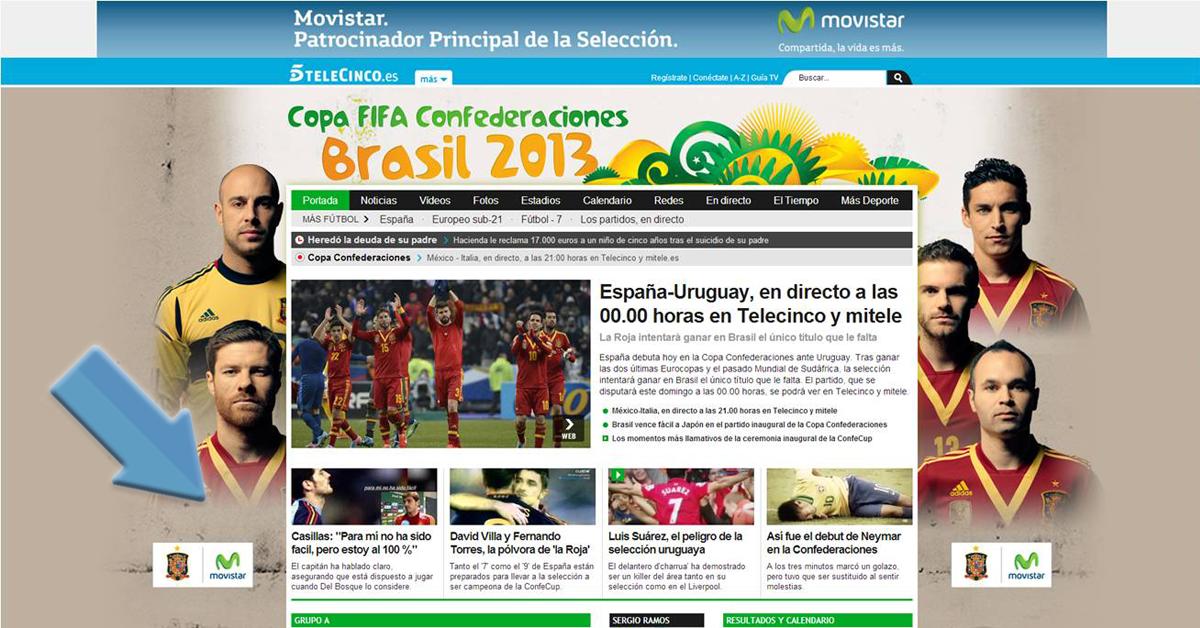 patrocinio movistar selección española de futbol