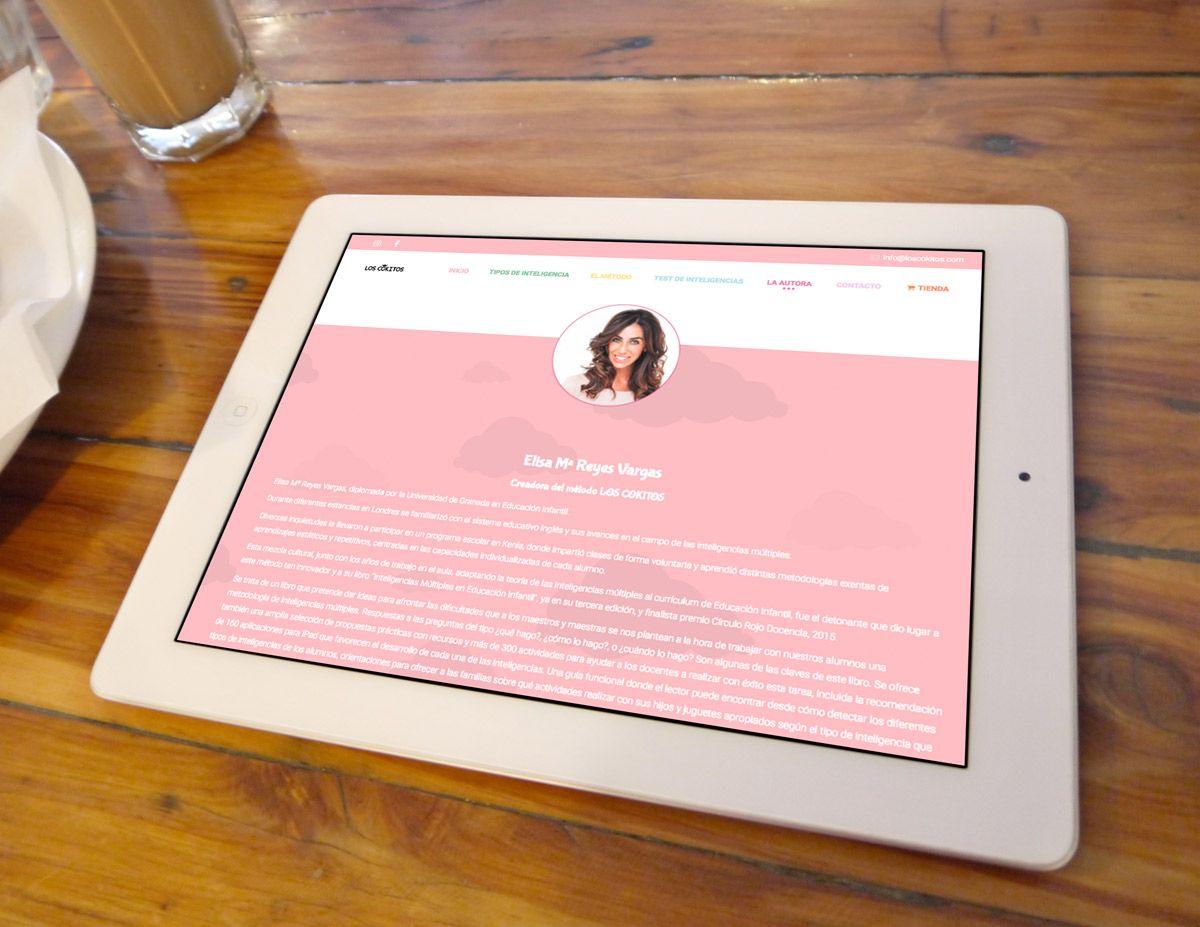 WordPress Los Cokitos formto tablet