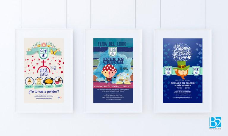 Diseño de campaña y cartelería para el Colegio Maria Nebrera