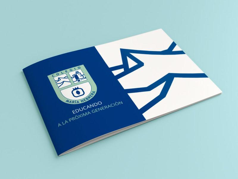 Diseño y maquetación de Dossier para el Colegio Maria Nebrera