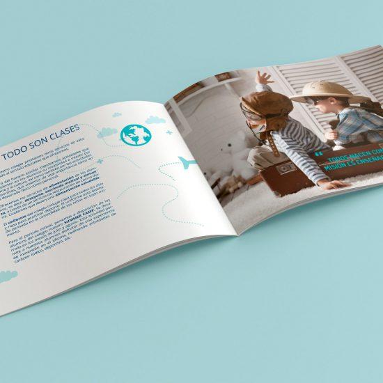 Diseño de dossier con servicios para el colegio Maria Nebrera