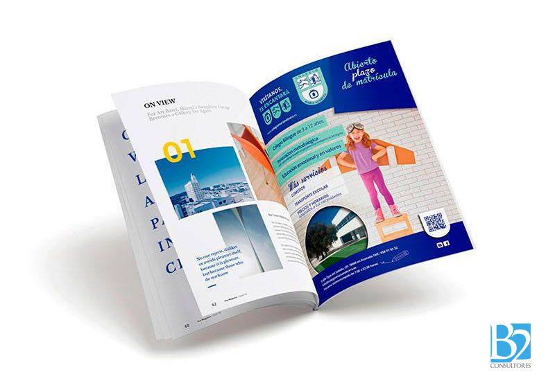 Revista de publicidad para el colegio Maia Nebrera