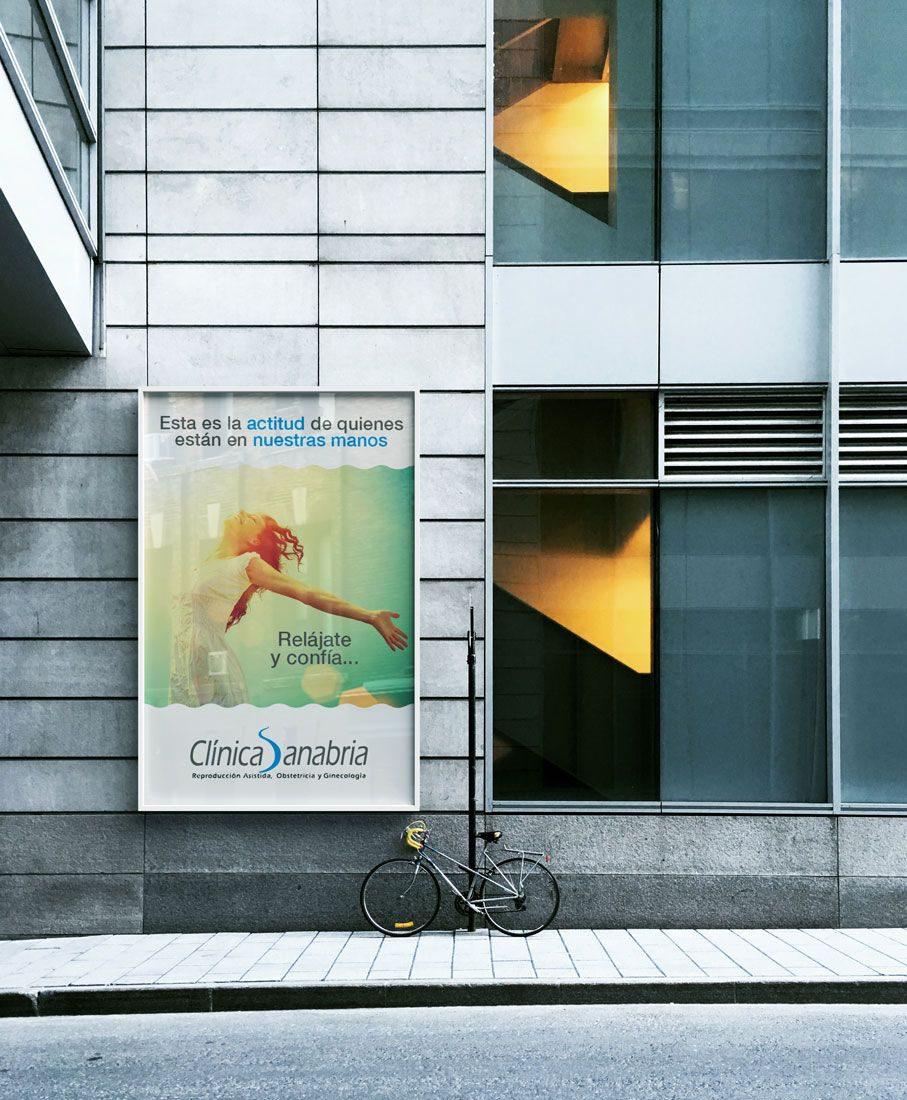 Campaña de publicidad exterior para Clínica Sanabria