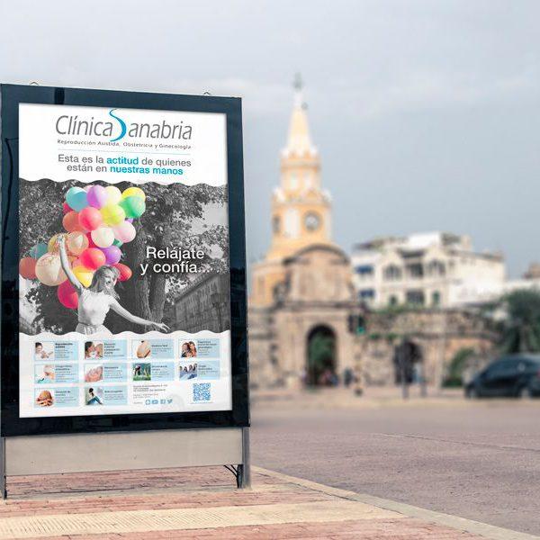 Campaña de publicidad para Clínica Sanabria