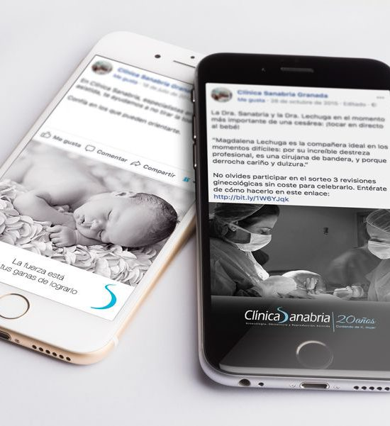 Dinamización en redes sociales para Clínica Sanabria