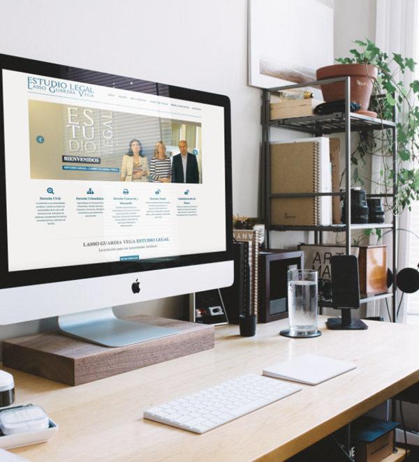 Diseño de página web para estudio legal LGV